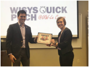 UW-L Student Earns Second Place in the University of Wisconsin's WiSys Quick Pitch Challenge